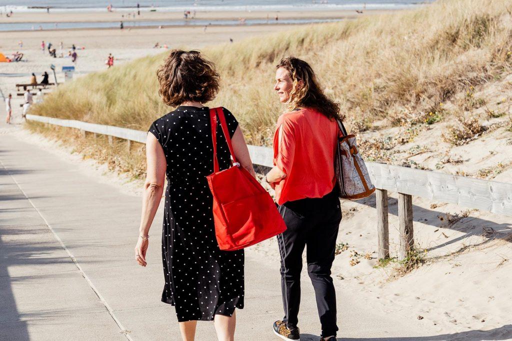 Coaching aan het strand wijk aan zee